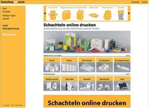 Die Startseite von boxshop24.com bietet bereits auf den ersten Blick eine Vielzahl an Informationen