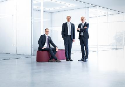 technotrans Board of Management, from left to right: Dirk Engel, Peter Hirsch and Michael Finger (Spokesman)