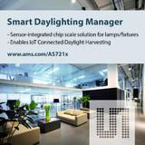 ams' Sensor-Integrated Smart Lighting Manager Enables IoT-Connected Daylight Harvesting
