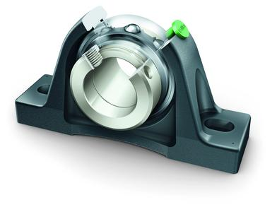 Increased operating life and reliability with simplified mounting operations and less maintenance outlay: INA radial insert ball bearings and housing units are now available in X-life quality
