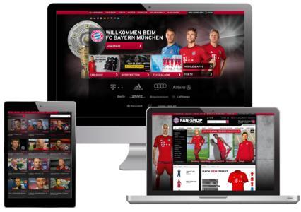 Screenshots FCB Online-Auftritt