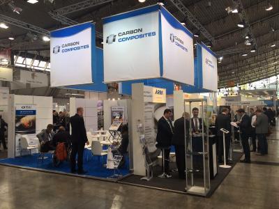 Der Gemeinschaftsstand des Carbon Composites e.V. an der Composites Europe in Stuttgart 2017