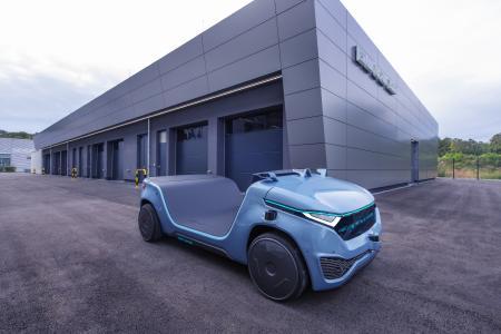Anhand der Innovationsplattform HARRI zeigt Bertrandt die Kompetenzen des Unternehmens in der Kombination und Anwendung der Trendthemen Digitalisierung, autonomes Fahren, Vernetzung und Elektromobilität.