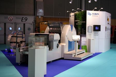 The KBA-MePrint AG stand at this year's Cartes 2012 in Paris
