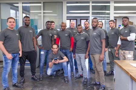 Die Teilnehmer der Qualifizierungsmaßnahme erhalten in der Ausbildungswerkstatt in Ingelfingen ihre Grundausbildung in den Bereichen Metall und Elektro
