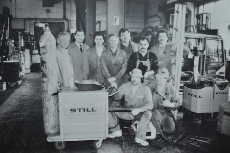 Klein aber fein, das Werkstattteam aus den 80er Jahren