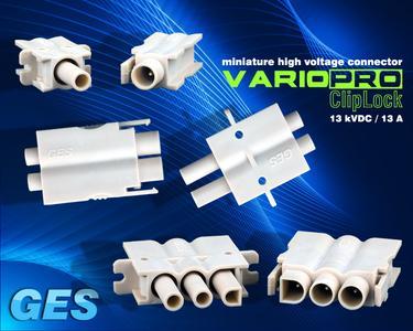 miniatur Hochspannungssteckverbinder VarioPro ClipLock