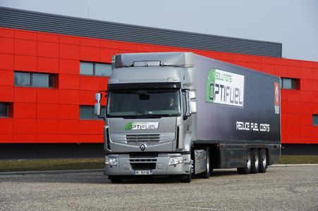 Der Renault Premium Optifuel ist zentraler Bestandteil der Optifuel Lösungen von Renault Trucks zur Verbrauchsreduzierung