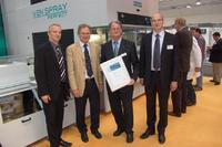 First place for the quick colour change system of the Ven Spray Perfect series at the Novelty Symposium at the LIGNA