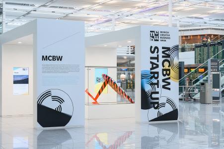 MCBW START UP Ausstellung von bayern design in Kooperation mit Flughafen München, AUDI e-tron e-foil von Aerofoils GmbH (Garching), Foto: bayern design & Sebastian Lock