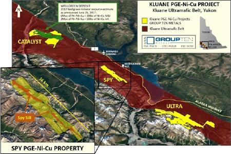 Karte des Spy-Projekts; Quelle Group Ten Metals