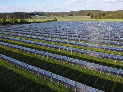 Solarpark Aasen-Donaueschingen mit 4.1 MWp (Baden-Württemberg, Süddeutschland)