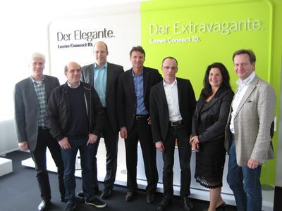 Der neu gewählte Loewe Handelssenat. Von links Jörg Brückner, Raimund Kreil, Jürgen Grees, Marco Wegmüller, Norbert Loskill (Sprecher), Jacqueline Posner (Stellv. Sprecherin) und Michael Balster