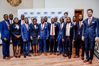 Gruppenbild der MC-Führungsriege mit dem Team, der MC-Bauchemie Ghana Ltd. beim Festakt in Accra.