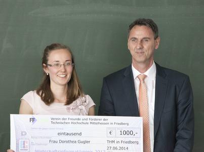 Preisträgerin Dorothea Gugler mit Laudator Wilfried Pfuhl, Vorstandsmitglied der inconso AG