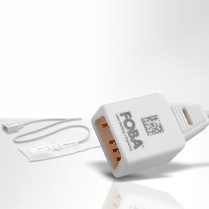 Kunststoffstecker mit lasermarkiertem 2D Code