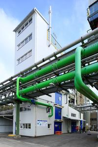 The Up-Cycling pilot plant integrates seamlessly onsite into Dyneon's existing fluoropolymer production lines. The plant can up-cycle up to 500 tons annually.