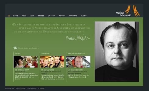 Die neue Website von Markus Majowski