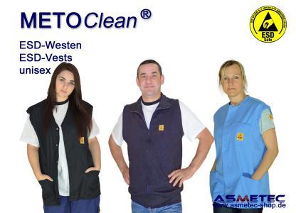 METOCLEAN ESD Westen können in vielen Farben und Schnitten gefertigt werden.