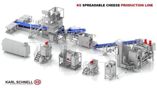 KARL SCHNELL GmbH & Co. KG: Produktionsanlage für die Schmelzkäse-Herstellung