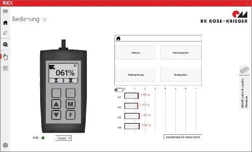 Mit der neuen Software RKX erleichtert RK Rose+Krieger den Anwendern seiner Antriebssteuerung die Konfiguration individueller Steuerungsprofile.