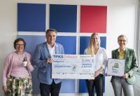 Das Foto zeigt (von links) Renate und Kurt Peter, Maren Deck und Heidi Schmidt. (Foto: PKS Software GmbH)
