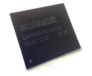 Neue Memory-Lösung von Swissbit: die Embedded Multimedia Card EM-20, Foto: Swissbit