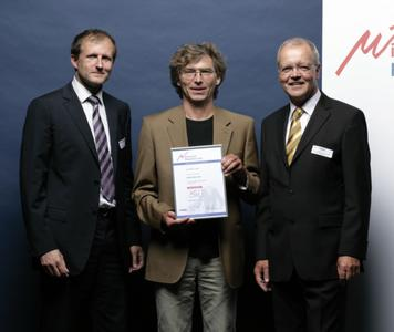 Peter Stanberg, Michael Braun, Kurt Sibold (Mitglied des Innovationsrates) bei der Preisübergabe