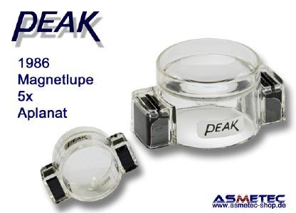 PEAK-Optic 1986, Lupe 5fach, magnetisch