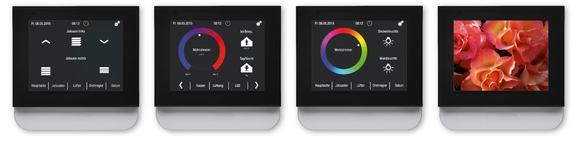 Der KNX Touch Control kombiniert Flatscreen-Optik mit Touchpad-Haptik.