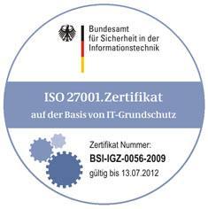 Siegel BSI-Grundschutz