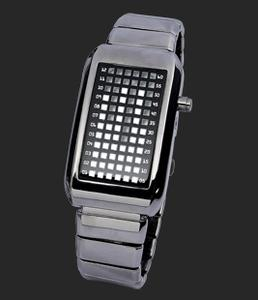 binäre Armbanduhren im Edelstahl-gehäuse