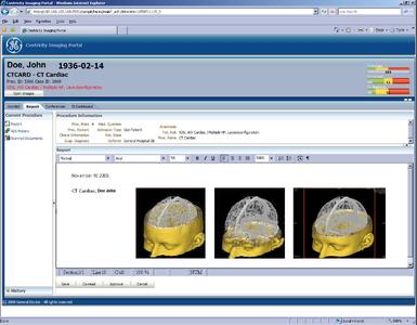 Centricity Imaging Portal