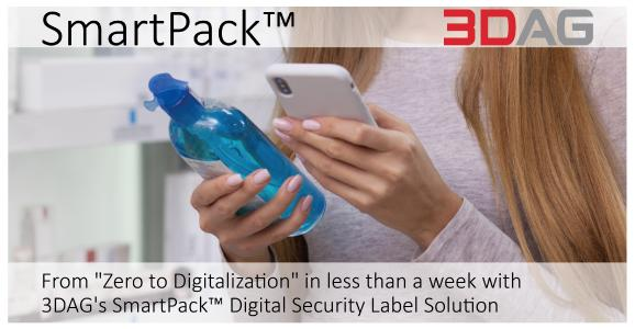 "From ""Zero to Digitalization"" in less than a week [with 3DAG's SmartPack™ Digital Security Label Solution]"
