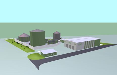 3D Bioabfallvergärungsanlage