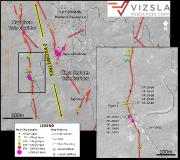 Vizsla Drills 2,889 g/t silver and 107.9 g/t gold over 3.7 metres within 1,808 g/t silver and 66.8 g/t gold over 6.0 metres at Panuco, Mexico