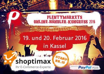 shoptimax und NORMA finden Sie am Stand 15 auf dem plentymarkets Online-Händler Kongress 2016 vom 19. bis zum 20. Februar in Kassel