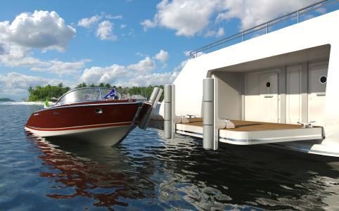 multifender stellen einen leichtgewichtigen, nicht korrodierenden Schutz für Yachten und anlegende Boote dar, die sich einfach am Heck von Yachten anbringen lassen, Bild: multiplex GmbH