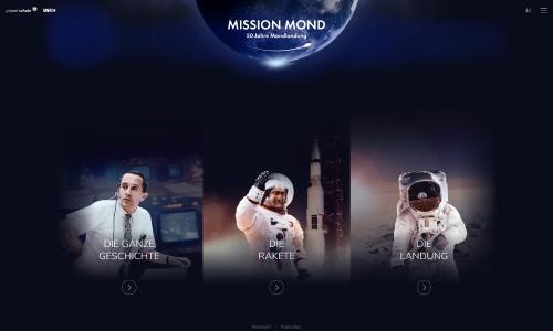 Die Mondlandung revisited - Im Browser