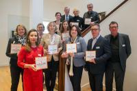 Gemeinsam mit zehn anderen Unternehmen erhielt CONET die Auszeichnung und das offizielle Siegel für die Förderung von Familienfreundlichkeit und Gleichstellung. (Foto: Heike Lachmann/VUV Aachen)