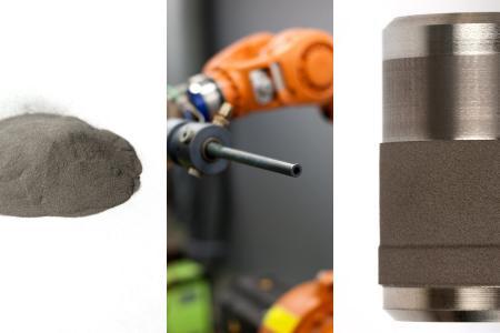 Das Leichlinger Unternehmen Putzier veredelt Stahlteile durch die Verfahren des thermischen Spritzens. Foto: Jens Putzier