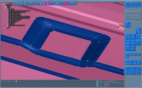 In nur wenigen Minuten wird das CAD-Flächenmodell anschließend in den Abweichungsbereichen aktualisiert