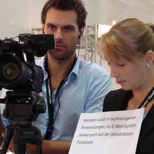 Das Kamerateam nimmt sich ausreichend Zeit, die Video Statements professionell aufzuzeichnen