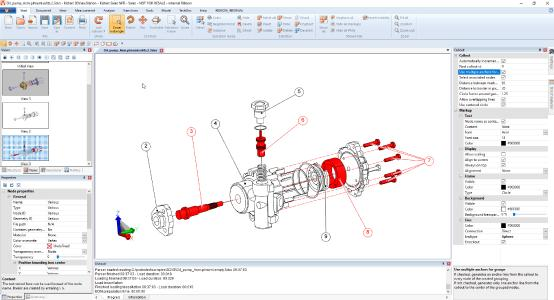 Authoring of technical documentation & spare part content with 3DViewStation