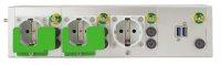 Medizinische 3-fach Steckdosenleiste mit USB Lademodul, frei konfigurierbar bis zu 8 Module