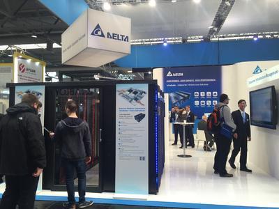 Delta stellt auf der CeBIT 2016 eine modulare 500 kVA USV mit der weltweit höchsten Leistung pro Rack und ein 120 kW RowCool für grüne Rechenzentren mit hoher Dichte vor