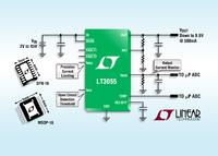 45V 500mA LDO Offers 25µVRMS Noise,  Programmable Current Limit & Diagnostic Information
