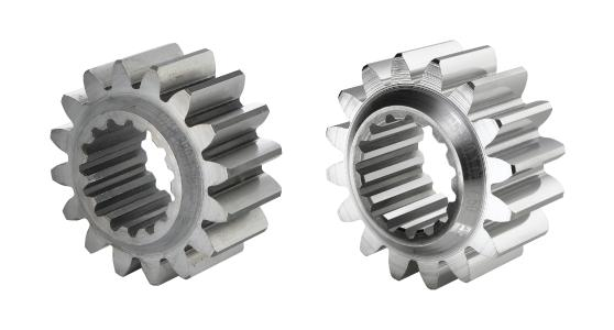 Gear wheels for motorsport before and after processing