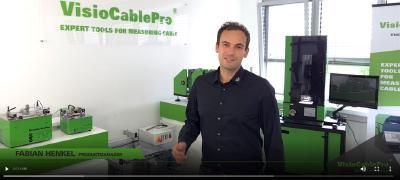 Begrüßungsvideo des Produktmanagers der Marke VisioCablePro® Herr Fabian Henkel