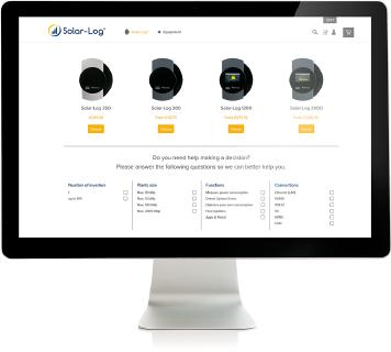 Greater Flexibility for Making Purchases: The first Solar-Log™ online shop is now open